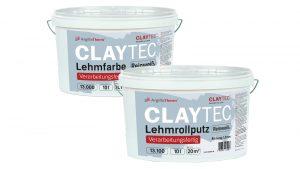 CLAYTEC Lehmfarbe und Lehmrollputz