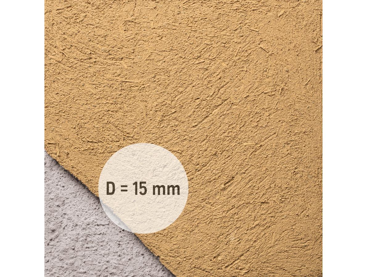 Lehm-Unterputz mit Stroh