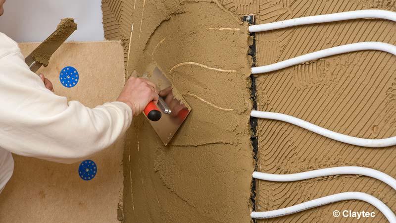 Lehmputz Wandflächenheizung